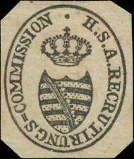 Dessau: H.S. Anhalt. Recrutirungs-Commission Siegelmarke - 411645