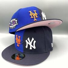 Yankees x Mets Duel New York Subway Series 2 Tones 59Fifty Fitted Cap Pink Botto