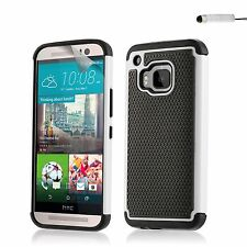 Dual Layer Shockproof Case Cover HTC Phones + Screen Protector & Stylus