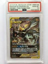 Pikachu & Zekrom GX SM168 Tag Team PSA 10 Gem Mint Card (Tag Team GX Tins)