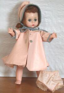 """Vintage Madame Alexander  8"""" Alexander-kins BK Walker w Pink Hat Coat & Panties"""