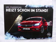 Opel Standheizung - Prospekt Brochure 10.2015
