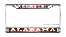 "UNIVERSITY OF ALABAMA ""Crimson Tide"" Mirrored License Plate / Tag Frame"