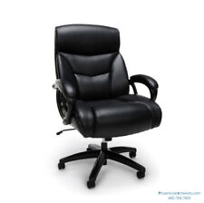 EXTRA LARGE DESK OFFICE CHAIR Big and Tall 350 LBS Weight Capacity Black Leather