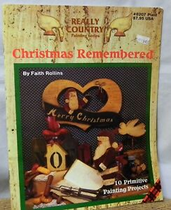 REALLY COUNTRY PAINTING SERIES CHRISTMAS REMEMBERED WOODCRAFT BOOK