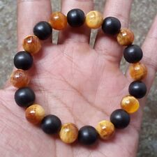 Nice 10 MM Borneo Ebony Mix Translucent Dammar Pine Wood 20 Beads