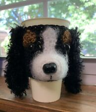 Hand Crochet King Charles Spaniel Dog Cup Cozy