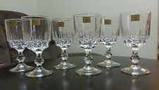 Crystal Luminarc 6 Wine Glasses made in France