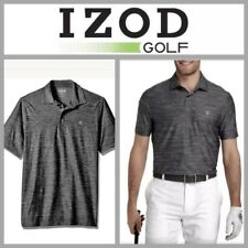 New $70 | Izod Golf Title Holder Swingflex Men's Polo Shirt Black Stretch! Med.