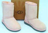 NIB Ugg Australia (K62) Classic Short II Boots Winter Pink Suede Toddler SZ 12