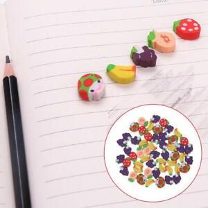 20PCS Mini Fruit Shaped Rubber Pencil Eraser Novelty Stationery Gift NEW