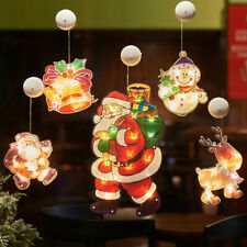 Christmas LED Suction Cup Curtain Window Hanging Fairy Lights Party Xmas Decor