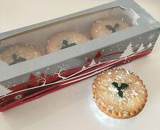 4 X Navidad festiva carne picada Pastel De Cajas, Para Hornear Cupcakes Navidad Decoración Regalo