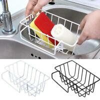 Kitchen Sink Sponge Soap Scrubber Tidy Storage Holder Rack Cleaning NW J6R3