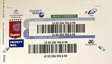 3 Etiquettes EXPORT SUIVI international sticker monde envois lettre suivie Poste