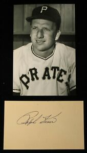 Vintage 1950s Playing Days Ralph Kiner Signed Index Card HOF D 2009 JSA Auth
