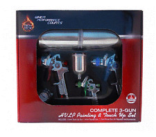 High TecK Complete 3-Gun HVLP Paint & Touch Up Set
