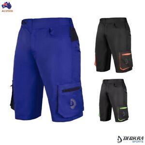 Mens MTB Shorts Detachable Padded Liner Off Road Downhill Baggy Cycling Shorts