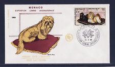 MONACO   enveloppe 1er jour   expo canine  chien  lhassa apso    1980