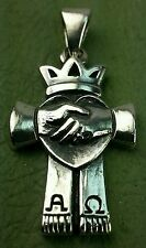 James Avery RETIRED CROWN  Alpha & Omega PEACE Love Friendship PENDANT or charm