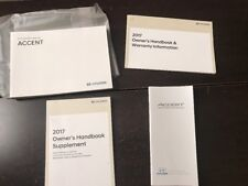 New listing 2017 Hyundai Accent Owners Manual Oem Free Shipping