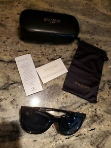 BALMAIN Sunglasses BL2101 BL 2101 black cat eye with case and papers