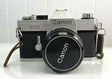 Vintage Japon Canon TX 30mm SLR Film Camera With 50mm Lens