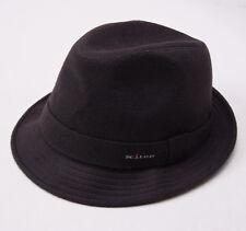 New KITON NAPOLI Chocolate Brown Cashmere Trilby Hat 7 5/8 (61cm) XL Cap