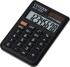 Citizen SLD-100N Pocket Calculator, Battery and Solar Power with Flap Case Free