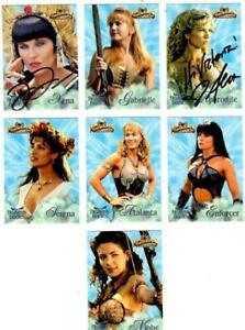 XENA & HERCULES TLJ - HEAVENLY BODIES INSERT CARD LOT - 2 SIGNED - LUCY LAWLESS