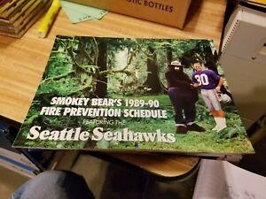 1989-1990 Smokey Bear's & Seattle Seahawks Calender