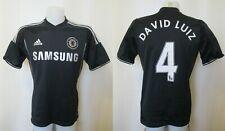 Chelsea London #4 David Luiz 2013/2014 third Sz M Adidas soccer shirt jersey 3rd