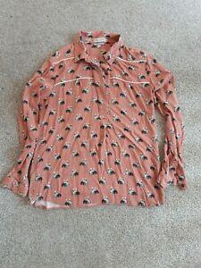 Paul and Joe Sister Cat design blouse used size 2 (10-12)