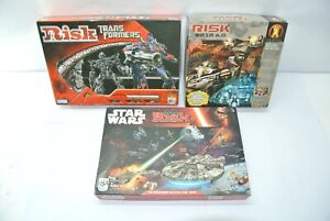 Lot of (3) Complete RISK Games: 2014 Star Wars + 2007 Transformers + 2210 A.D.