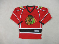Chicago Blackhawks Hockey Jersey Youth Large Red Black Jonathan Toews NHL Kids