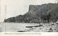 Minneapolis St Paul Minnesota~Maiden Rock on Mississippi River~Rowboat~1908