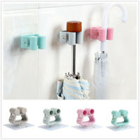Wall Mounted Mop Umbrella Holder Brush Broom Hanger Storage Rack Kitchen Tool