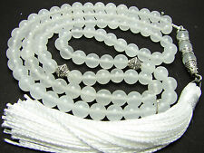 6mm99 WHITE JADE ISLAMIC PRAYER BEADS QURAN TASBIH GIFT