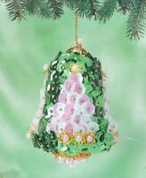 Sunrise O TANNENBAUM BELL set of 4 Sequin Christmas Ornaments Kit ~ NEW