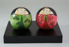 Usaburo Kokeshi Japanese Wooden Doll 162-1 Shiawase Hina (Hina Ningyo Dolls)
