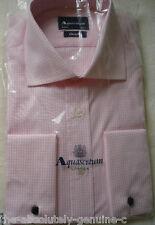 "AQUASCUTUM Pink Canterbury Cotton Shirt 14.5"" 37cm"