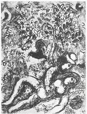 Marc Chagall - The Pair in a Tree, 1963 (M.397) - Original Lithograph