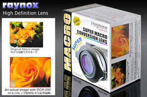 RAYNOX DCR-250 Super Macro Close-up Lens 52mm 55mm 58mm 62mm 67mm to CANON NIKON