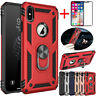 For Apple iPhone 11 Pro Xs Max Xr Shockproof Armor Ring Stand Rubber Case Cover
