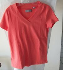 Orange Cap Sleeve Blouse/Knit Top from Liz Claiborne Size S 100% Cotton