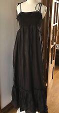 NEW ALL SAINTS ANGELIKA MAXI DRESS black silk sz 12 fit 12 14  Full Length