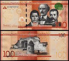 República Dominicana 100 UNC Pesos (P190) 2014