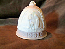 """Lladro 1991 Collectors Society Pink Bell """"Spring Bell"""" Ca"""