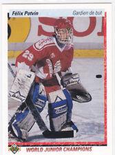 Felix Potvin 1990-91 Upper Deck  Rookie #458 Team Canada Toronto Maple Leafs RC