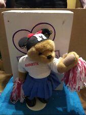 """Annette Funicello Bear Poseable Cheerleader Mouseketeer Pom Poms 16"""" Plush"""